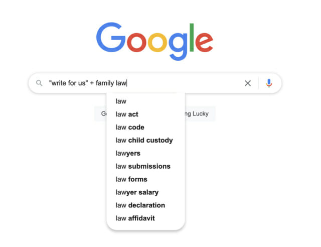 Google Search Family Law