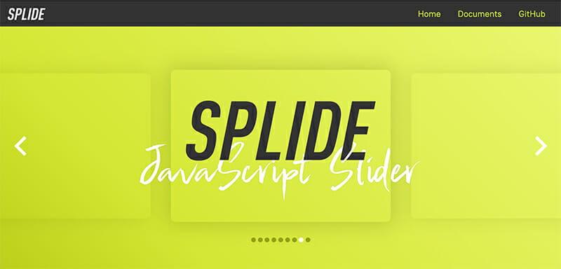 Splide JS - Slider