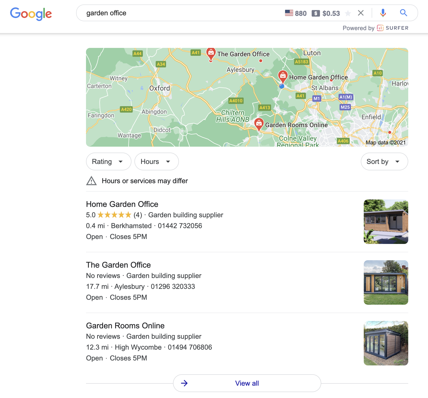 local seo berkhamsted results